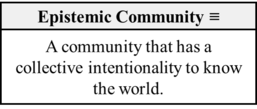 Epistemic Community (Overgaard-2017).png